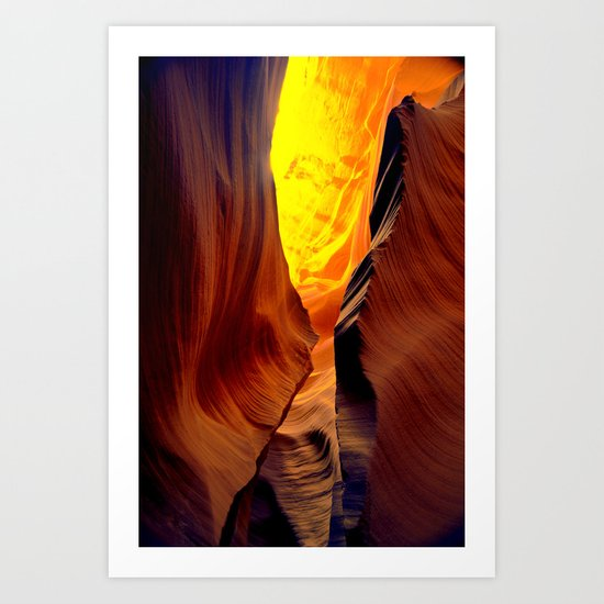 Magic pass.  Low Antelope Canyon, Arizona Art Print