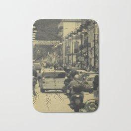 Sorrento street postcard Bath Mat