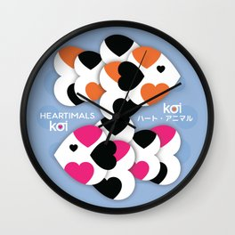 HEARTIMALS™ KOI ハート • アニマル Wall Clock
