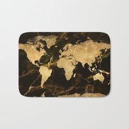 world map marble 5 Bath Mat