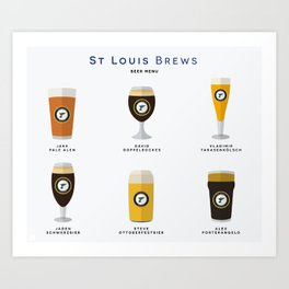St. Louis Brews Art Print