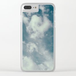 Soft Dreamy Cloudy Sky Clear iPhone Case