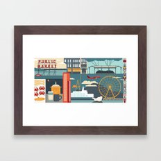 Seattle Mural pt2 Framed Art Print