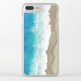 Coastline, Seagull's eye-view. Clear iPhone Case