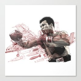 """Float like a Warhog"" ALI Canvas Print"