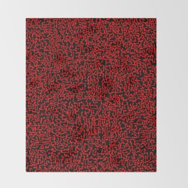 thought 2, red on black Throw Blanket