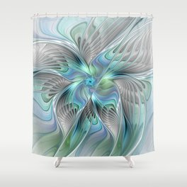 Abstract Butterfly, Fantasy Fractal Art Shower Curtain