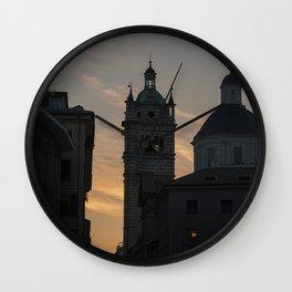 Sunset in Italy Wall Clock