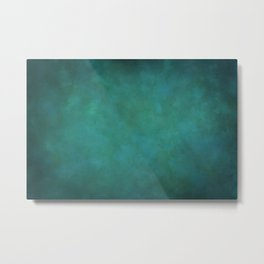Abstract Soft Watercolor Gradient Ombre Blend 11 Teal, Turquoise, Green and Blue Metal Print