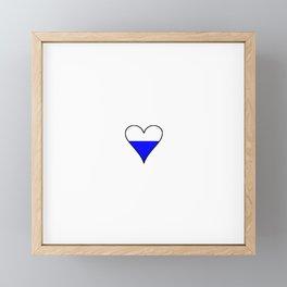 Flag of Bavaria 3 Framed Mini Art Print