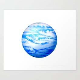 Illustration of watercolor round planet Art Print