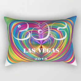 Electric Daisy Carnival Heart Rectangular Pillow