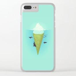 Ice Cream Cone Iceburg Clear iPhone Case
