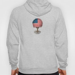 Vintage Tree of Life with Flag of The United States Hoody