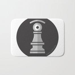 pawn's eye b&w Bath Mat