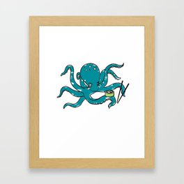 Hungry Octopus Framed Art Print