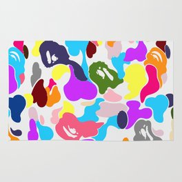 B APE colorful pattern Rug