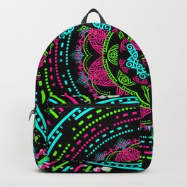 Mandala Energy in Neon Backpack
