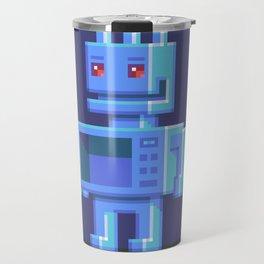 Magnetron pixel robot Travel Mug