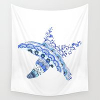 starfish Wall Tapestries featuring Starfish by SaltyHues