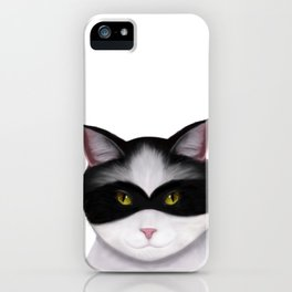 They call me the Masked Cat iPhone Case