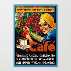 Vintage Brazil Coffee Ad Canvas Print