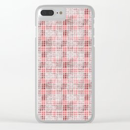 Classical red-gray cell. Clear iPhone Case