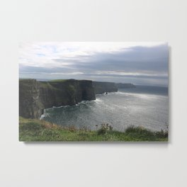 Sun Coming out over Cliffs of Moher Metal Print