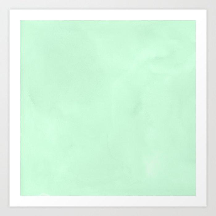 Sea Green Watercolor Art Print