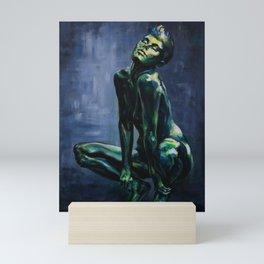 Verdant - Expressive Painting of Female Sculpture Mini Art Print