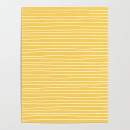 Sunshine Yellow Pinstripes Poster