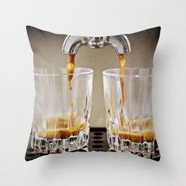 Brewing Espresso Throw Pillow
