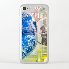 music as flower and Monroe, audio flower, blue mood. Worldwide Shipping Clear iPhone Case