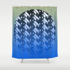 lunar zen Shower Curtain