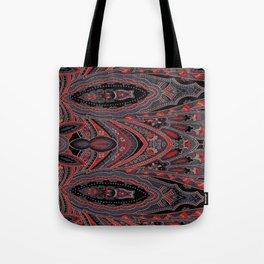 Paisley 7 Red Tote Bag