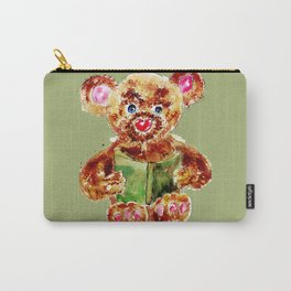 Painted Teddy Bear Carry-All Pouch