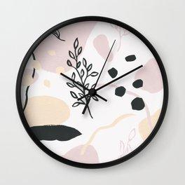 Primavera abstracta Wall Clock