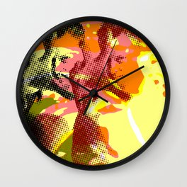 Colorful Abstract Pop Art Wall Clock