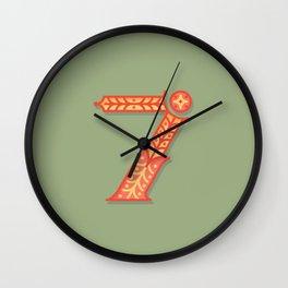 Alphabet Drop Caps Series- 7 Wall Clock