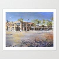 Corner of Ridge and Dixie Art Print