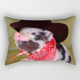 Puppy Cowboy Baby Piglet Farm Animals Babies Rectangular Pillow