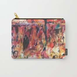 Watercolor of Marrakech market Carry-All Pouch