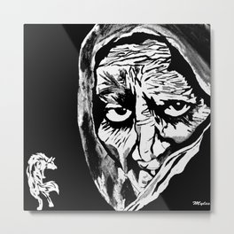 Oh Grandmother What Big Eyes You Have....The Better To See You With My Dear Metal Print