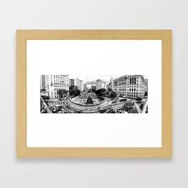Sao Paulo Panorama Framed Art Print