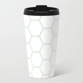 Honeycomb Mint Green #192 Travel Mug