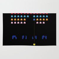 spaceman Area & Throw Rugs featuring Spaceman by Greg Guillemin