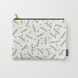 Old School Retro Funky Memphis 80's Pattern Carry-All Pouch