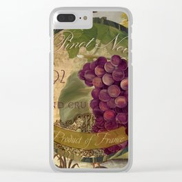 Wines of France Pinot Noir Clear iPhone Case