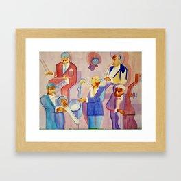 Musician Series I: Cubism Jazz Nod Framed Art Print