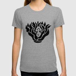 fire spirit (bw) T-shirt